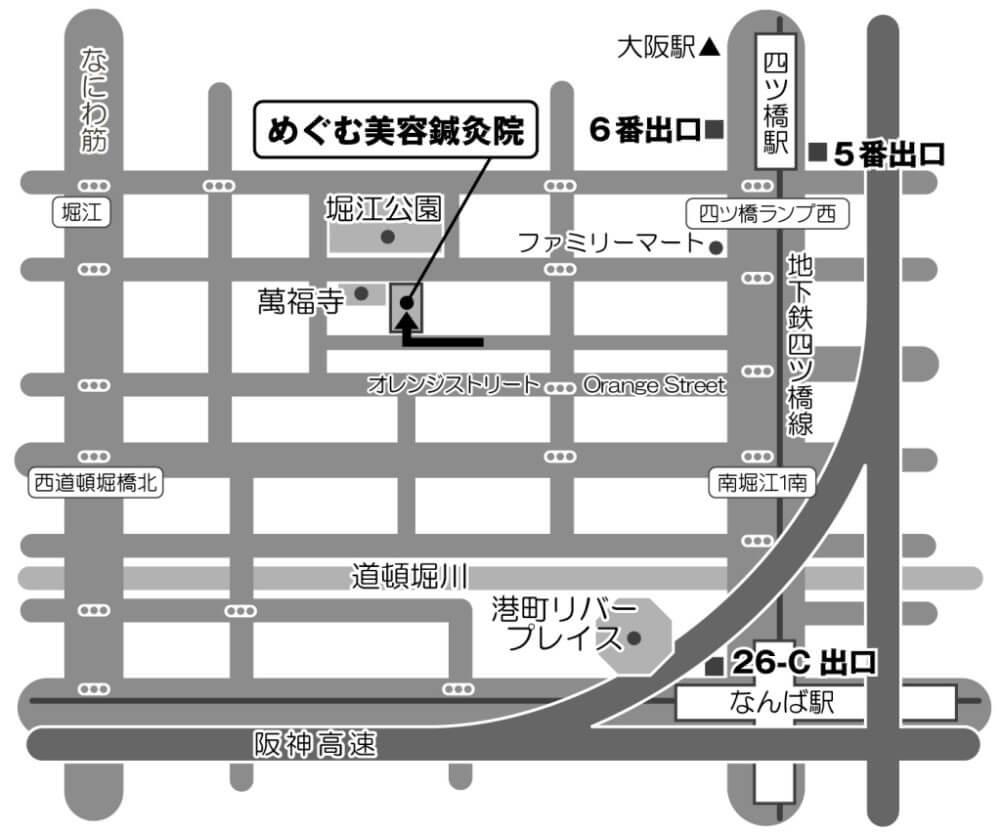 おすすめポイント①四つ橋線四ツ橋駅から徒歩5分の好アクセス!